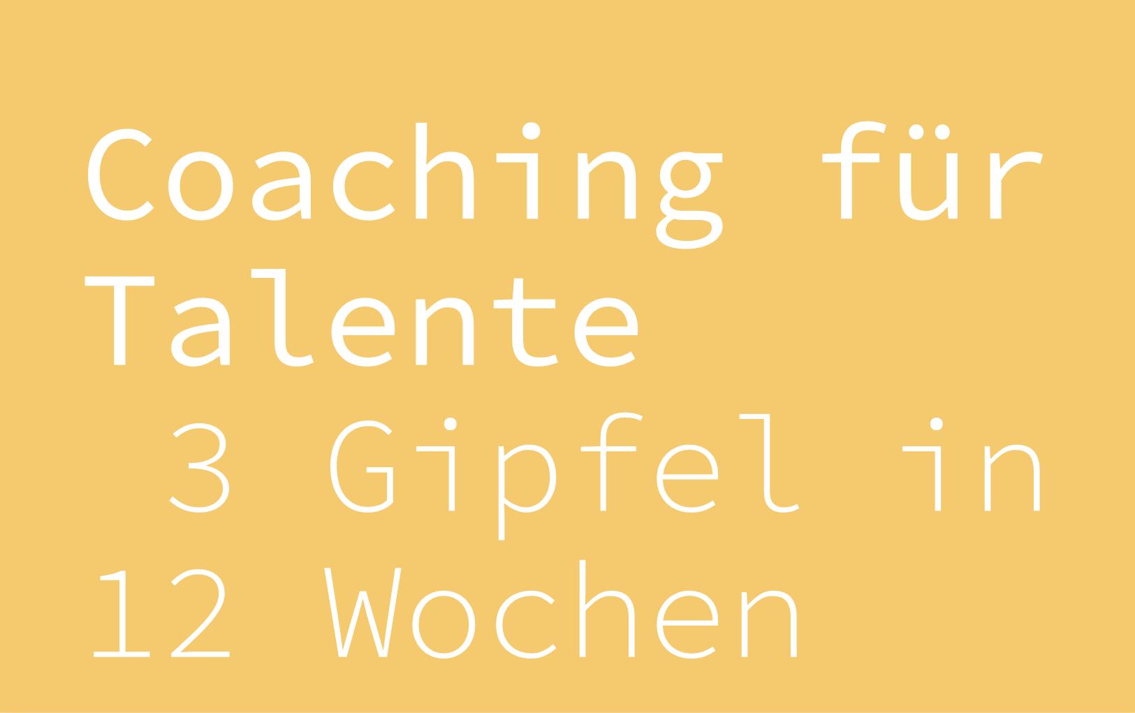 Coaching für Talente